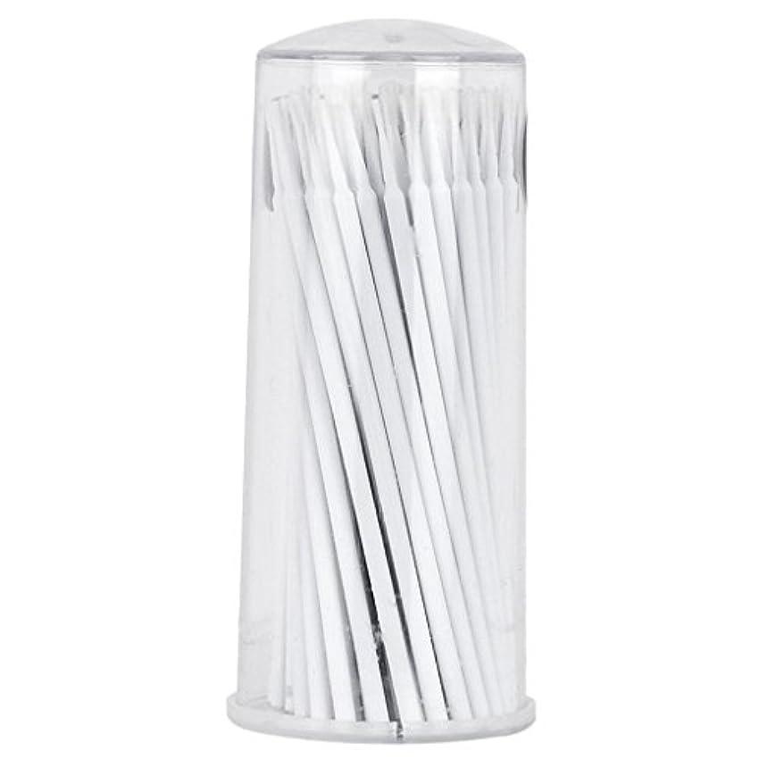 馬鹿げた岸冗長Non-brand 100個のまつげの拡張マイクロブラシの綿棒タトゥーマイクロブレーディング使い捨てアプリケータ - 白