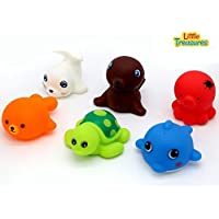 Little Treasures Colorful Squirting Sea Animal Bath Toys Set of 6 19 Months and Up [並行輸入品]