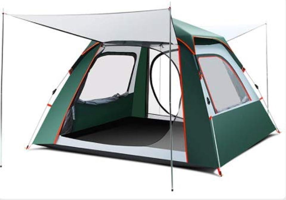 定刻ジョージハンブリートーナメント自動テント屋外3人-4人キャンプ肥厚2人自宅暴風雨シングルキャンプ (Color : グリーン)