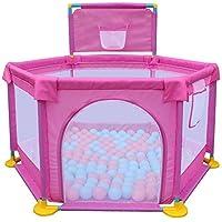 ベビープレイペン ピンクプラスコットンフェンス/ボールプール屋外ゲーム保護子供屋内赤ちゃん幼児クロール