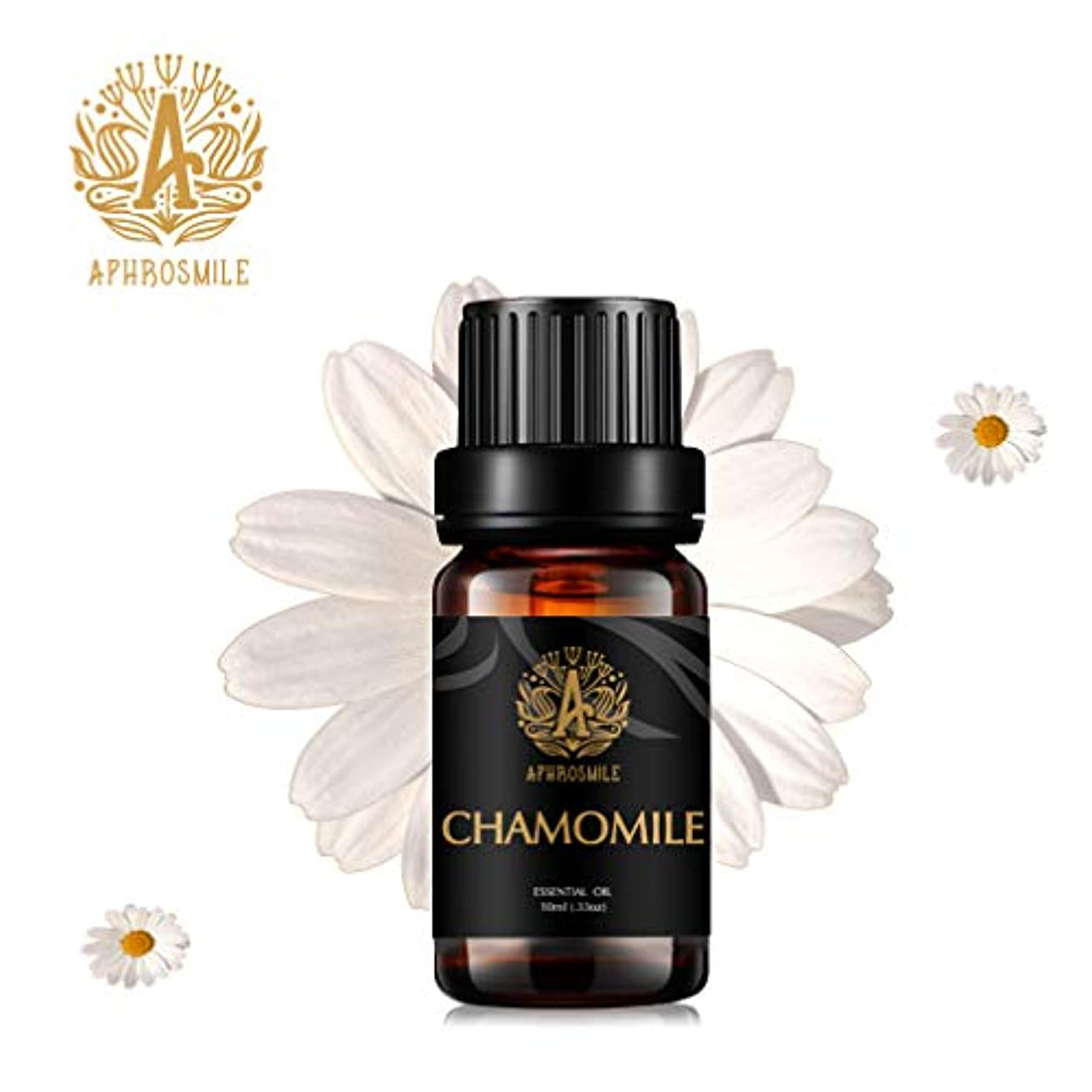カモミールエッセンシャルオイル、100%純粋なアロマセラピーエッセンシャルオイルカモミールの香り、不安を和らげます、治療上の等級の精油のカモミールの芳香のために拡散器、マッサージ、加湿器、毎日の心配、0.33オンス-10ml