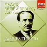 フランク、フォーレ&ドビュッシー : ヴァイオリン・ソナタ 画像