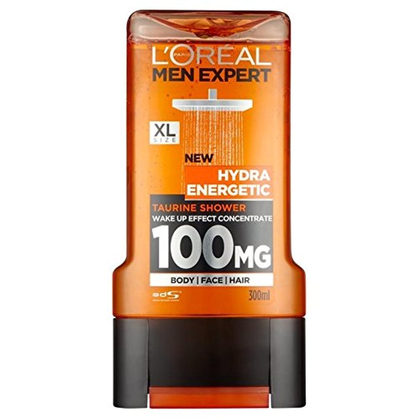 アクチュエータ許容できる磁石ロレアルパリのメンズ専門家ヒドラエネルギッシュなシャワージェル300ミリリットル x4 - L'Oreal Paris Men Expert Hydra Energetic Shower Gel 300ml (Pack...
