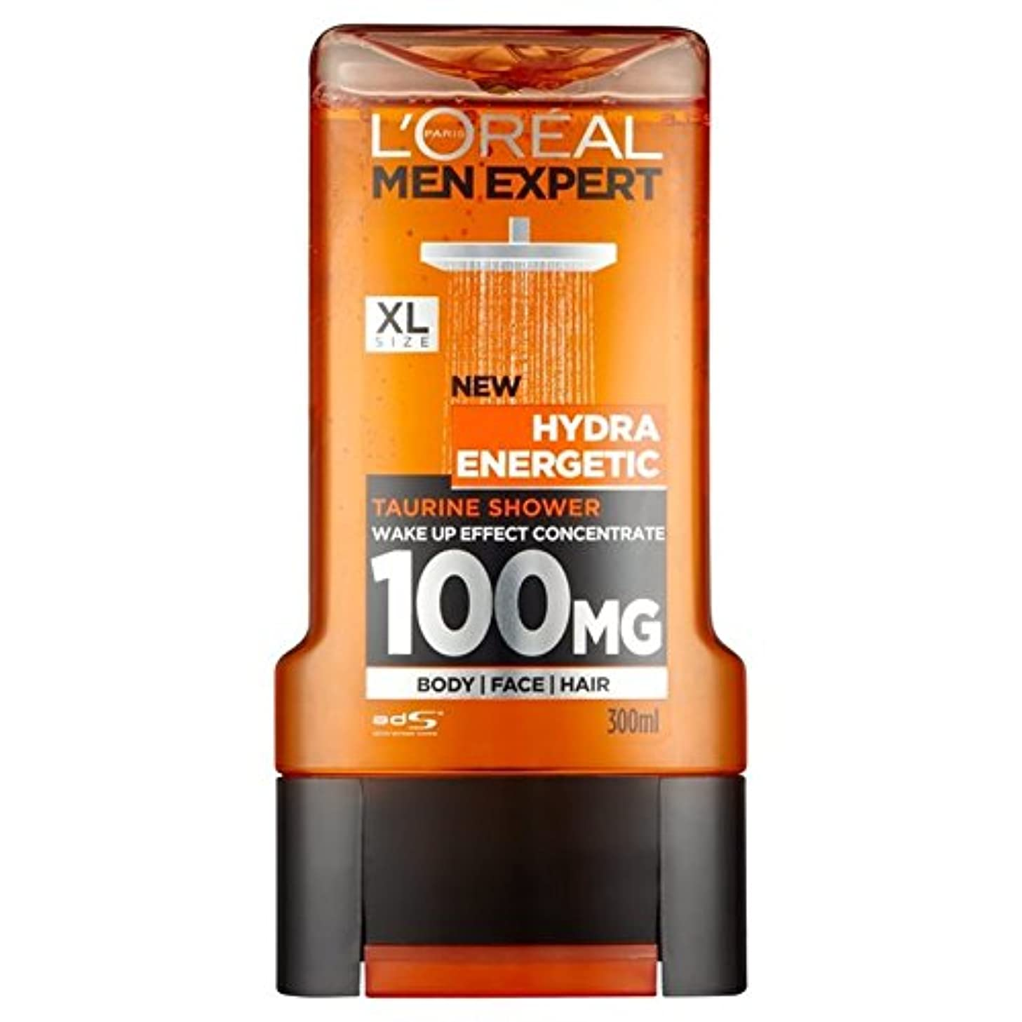 鉛範囲鏡ロレアルパリのメンズ専門家ヒドラエネルギッシュなシャワージェル300ミリリットル x2 - L'Oreal Paris Men Expert Hydra Energetic Shower Gel 300ml (Pack...