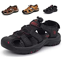 fb43239f1e1 Sport Sandals Slides Athletic Men Leather Beach Shoes Casual Outdoor  Fisherman Strap Hiking Large Size 11