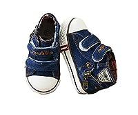 【EMI】yeeshow 幼児靴●御洒落スニーカ●帆布●ブルー●マジックテープ留め660(16cm, ダークブルー)