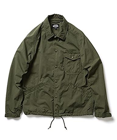 Ripstop Cotton Nylon Coach Jacket 11-18-2711-803: Olive Drab