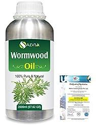 Wormwood (Artemisia absinthium) 100% Natural Pure Essential Oil 2000ml/67 fl.oz.
