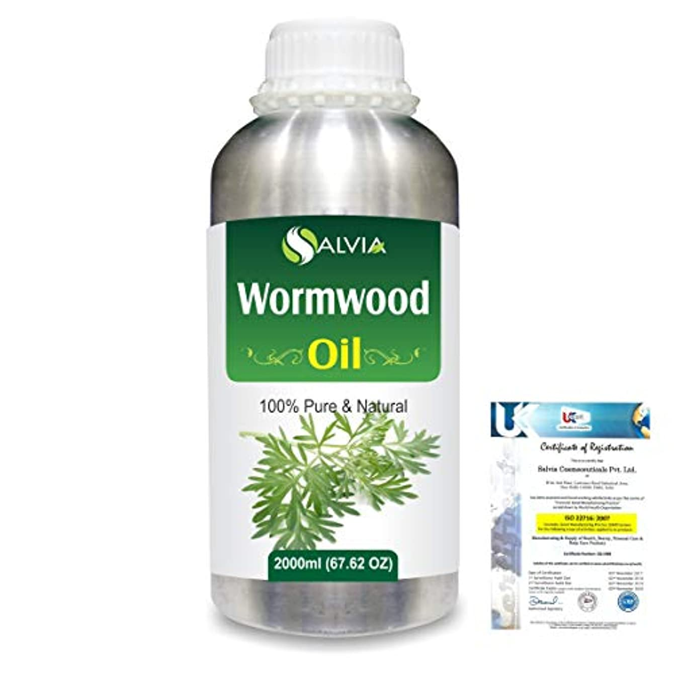 人柄凝縮するウルルWormwood (Artemisia absinthium) 100% Natural Pure Essential Oil 2000ml/67 fl.oz.