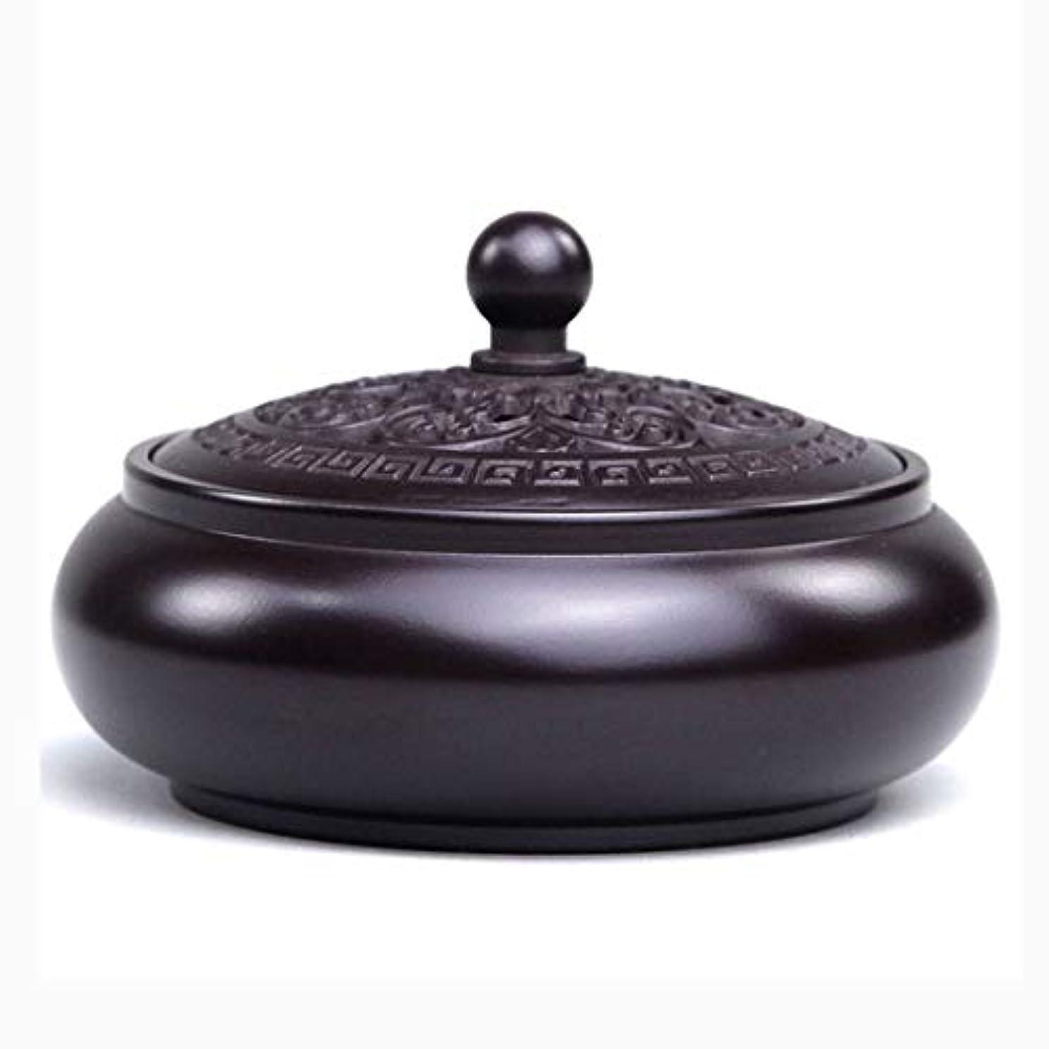 レザーサリー苦芳香器?アロマバーナー 純銅香炉家庭用香炉白檀ストーブ茶セット用仏香炉 アロマバーナー (Color : Red copper)