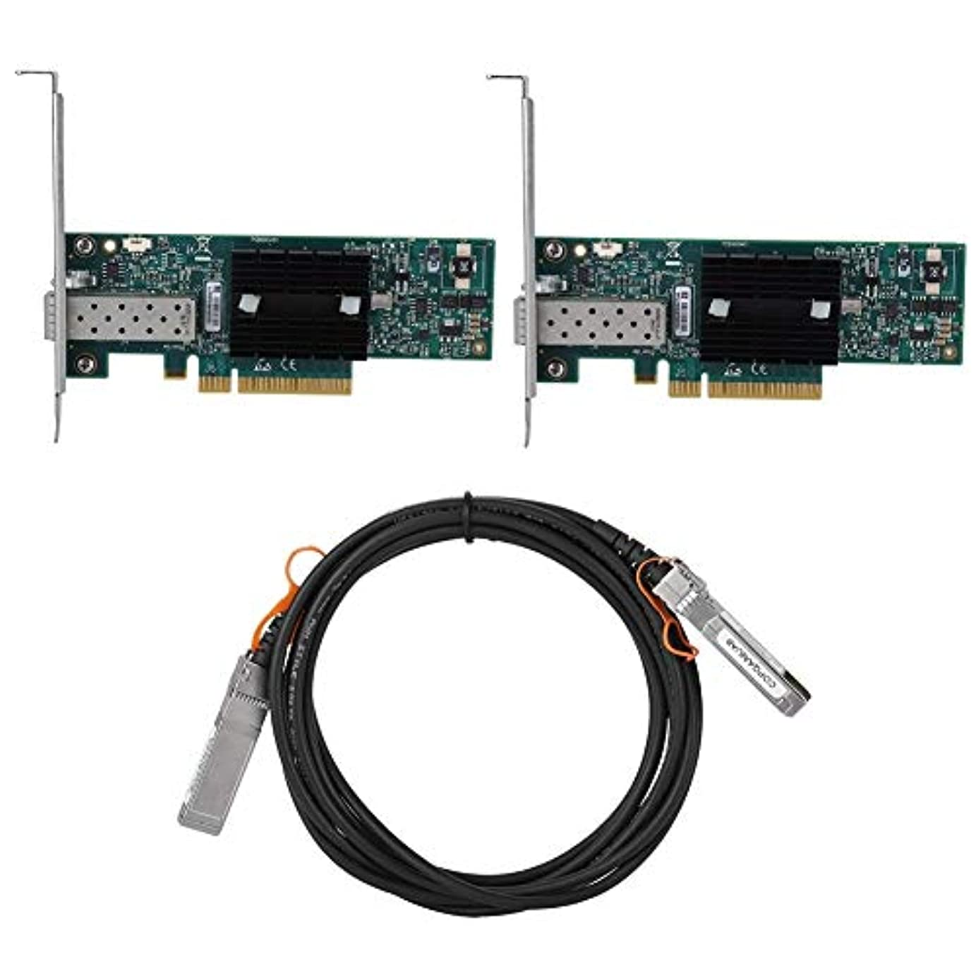 グリース海峡ひも助言Brocan 1O GB Mellanox社のネットワークスイートキットシングルポートイーサネットカードMNPA19-XT SFP +接続ケーブルについて