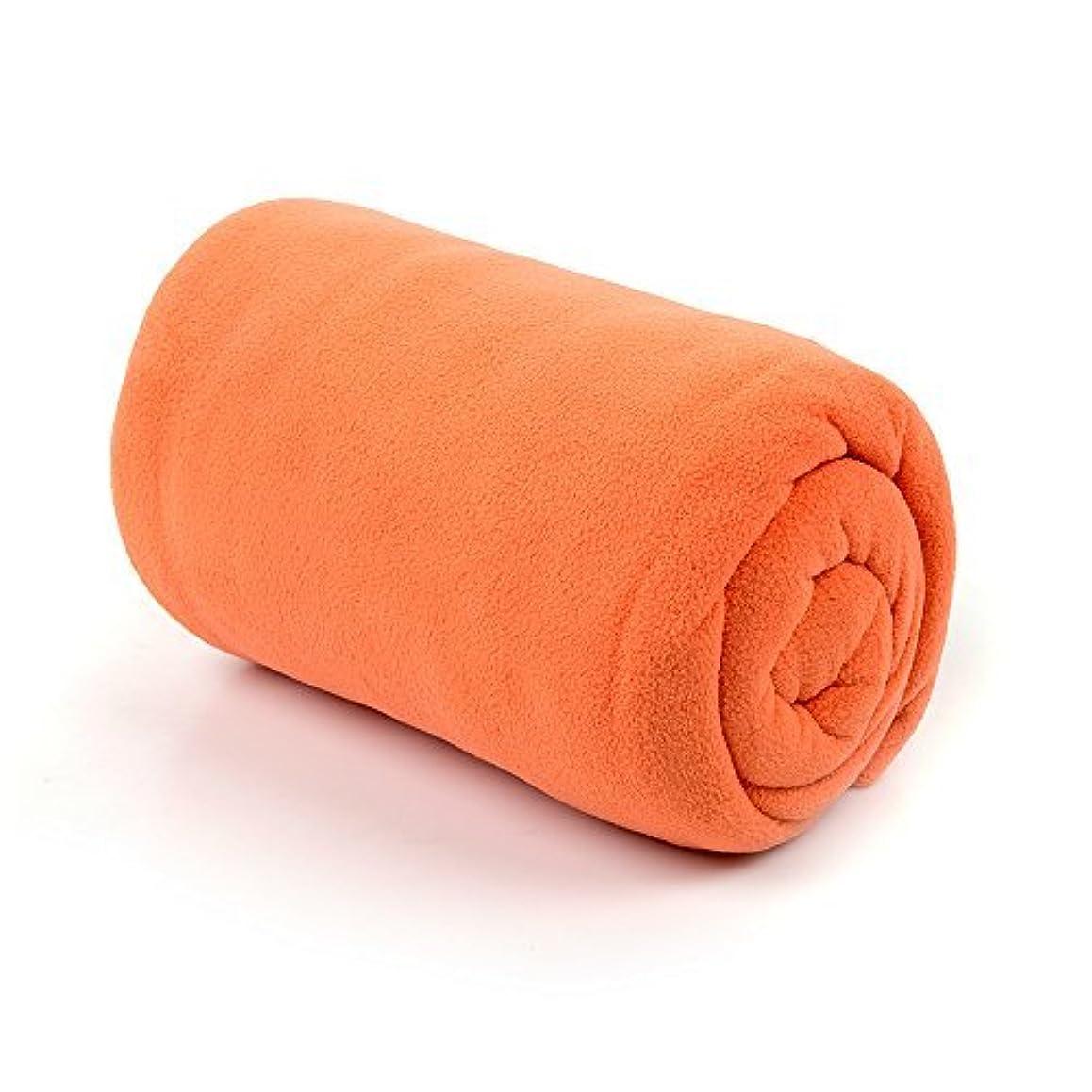 仲間アクセサリー会計ユーラー 寝袋 インナー フリース シュラフ ブランケット 封筒型 アウトドア 車中泊 防寒 (orange)