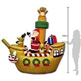 【クリスマスエアブロウ】サンタドライビングボート  / お楽しみグッズ(紙風船)付きセット