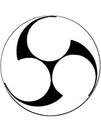 家紋シール 張り紋 黒紋付用 nkp 日向紋 3.9cm 6枚組 右三つ巴(丸なし)