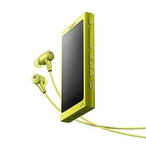 ソニー SONY ウォークマン Aシリーズ 64GB NW-A37HN : Bluetooth/microSD/ハイレゾ対応 ノイズキャンセリング機能搭載 ハイレゾ対応イヤホン付属 ライムイエロー NW-A37HN Y