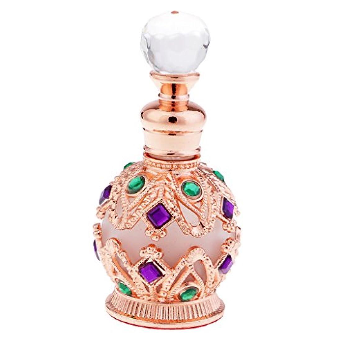 控えるフィードバックこっそり金属製 香水瓶 15ml ロイヤル 中東スタイル 香水容器 高級感 贈り物 全2色 - ローズゴールド
