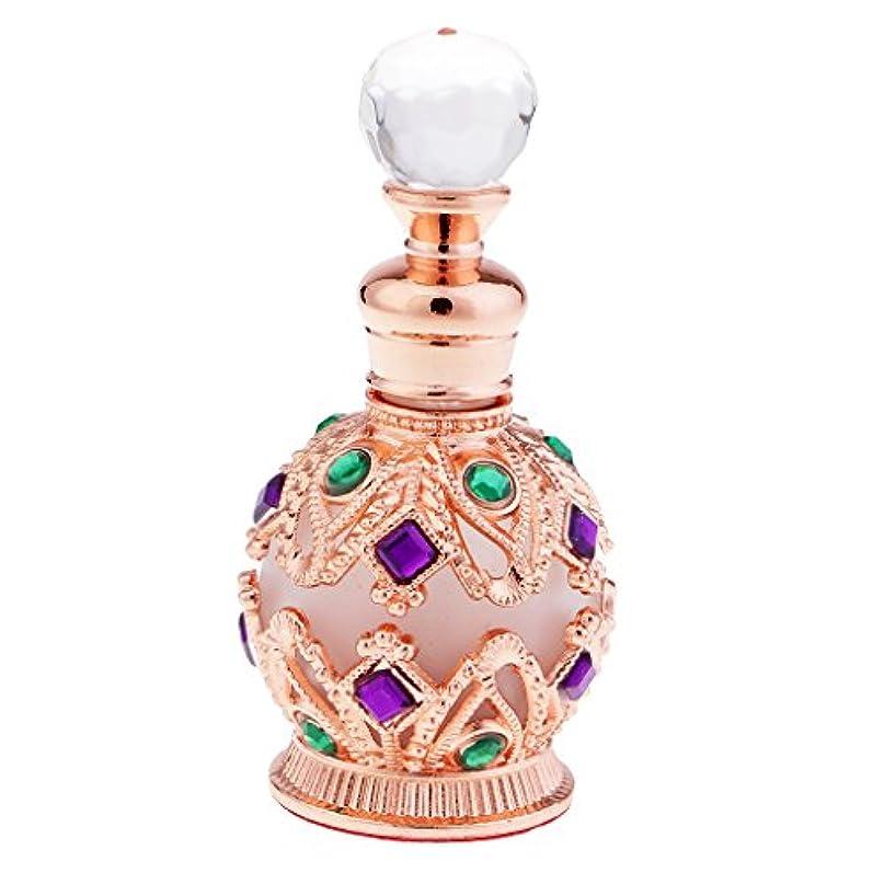 リングレット問い合わせるペインティング金属製 香水瓶 15ml ロイヤル 中東スタイル 香水容器 高級感 贈り物 全2色 - ローズゴールド