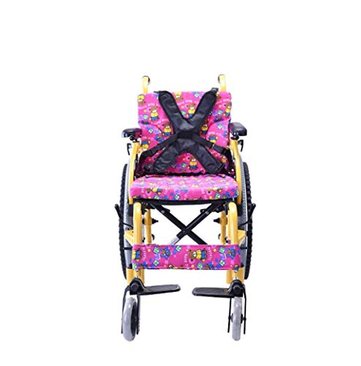 恐ろしい不良品ガイド子供用車椅子折りたたみポータブル小型ポータブル無効トロリー子供用アルミニウム手動車椅子