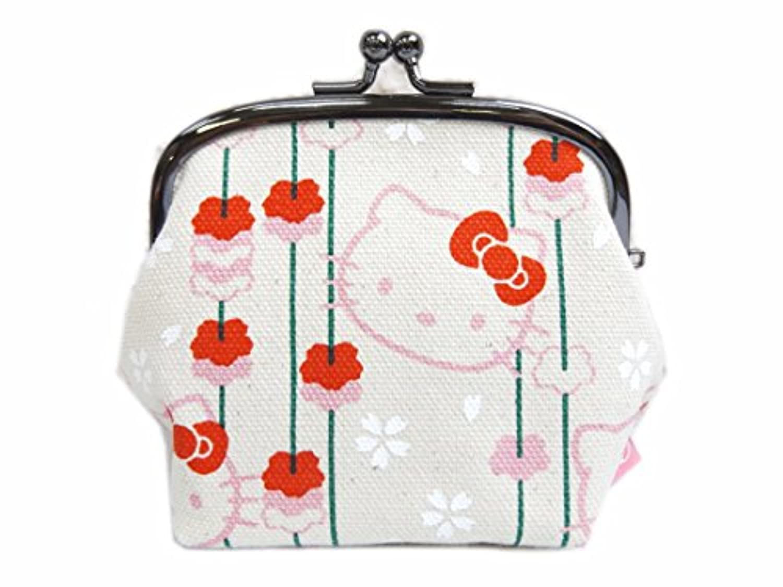 和柄がま口財布サイフ?小銭入れきなり地枝垂桜 和×ハローキティちゃんコラボ 日本製