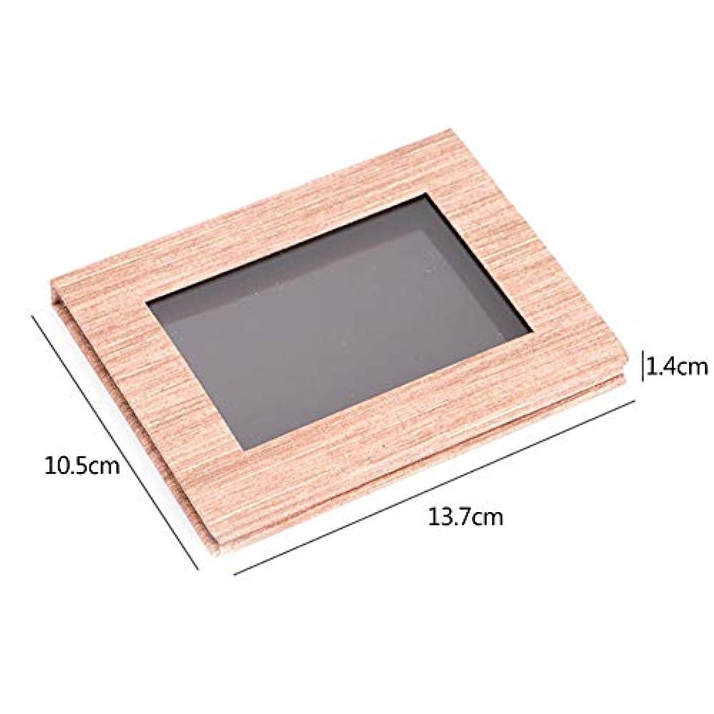 SILUN アイシャドウ 口紅 木の穀物 磁気パレットDIY 取り替え可能 構造パレットメイクアップ 便携 収納 組み合わせボックス パレットボック化粧品ケース アイシャドウ パウダー 整理 保管 旅行 便利
