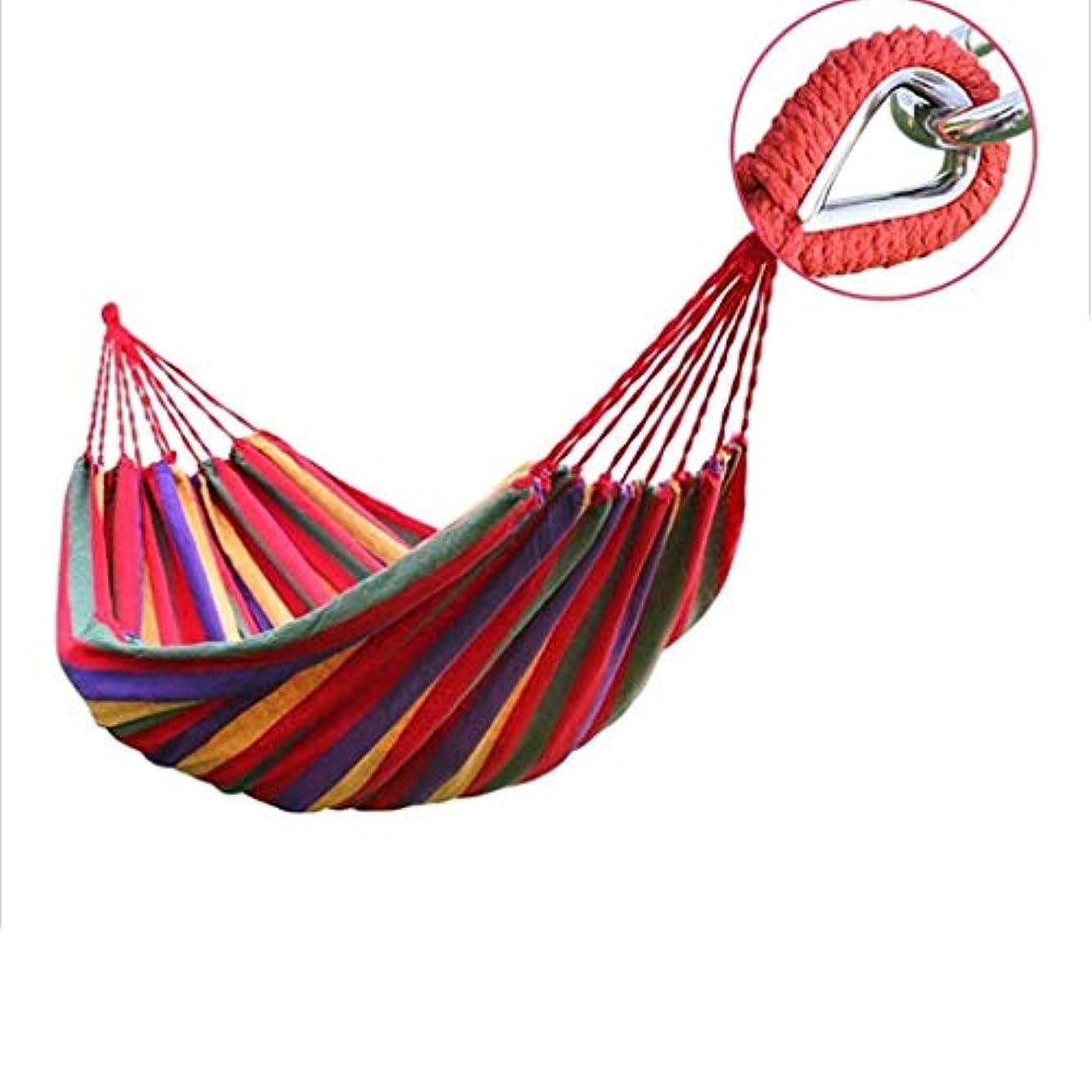 類人猿フローリマークZAQXSW-dc 反ロールオーバーの厚いキャンバスハンモックアウトドアダブル世帯大人の睡眠シングル屋内スイングを広げると増加 (Color : Red)
