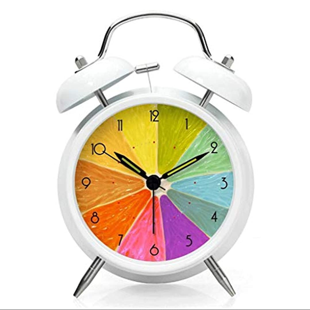 お祝い電話ソロクリエイティブファッション漫画マルチカラー虹小さなラウンドスヌーズ目覚まし時計用子供キッズ学生家庭用 (色 : A)