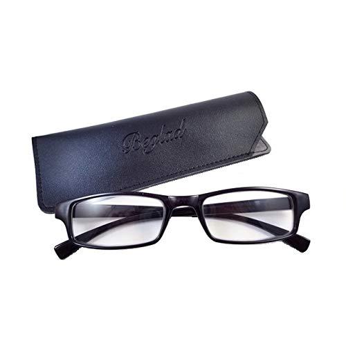 BEGLAD ビグラッド 老眼鏡 おしゃれなケース付 BGT1009BK シンプルなデザインでスタイリッシュ 6色 +1.0~+3.0 ブラック +2.0