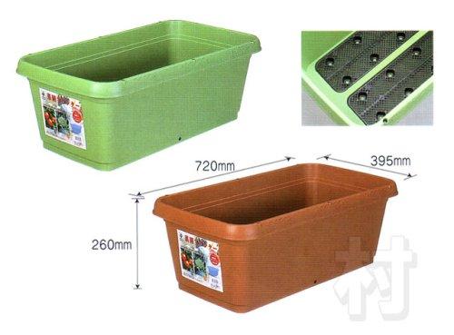 グリーンパル 菜園プランター 720mm ブラウン