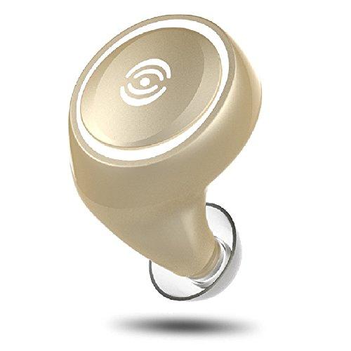 [日本正規品]COOPO Bluetooth4.1 イヤホン 超軽量 超小型 連続再生8時間/通話10時間 日本語説明書 マイク内蔵 ワイヤレスヘッドセットノイズキャンセリング CP-A4-GOLD