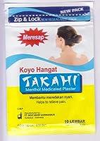 Takahi 光洋hangat - ウォームメントール薬用プラスター、1パック(10 pathes)