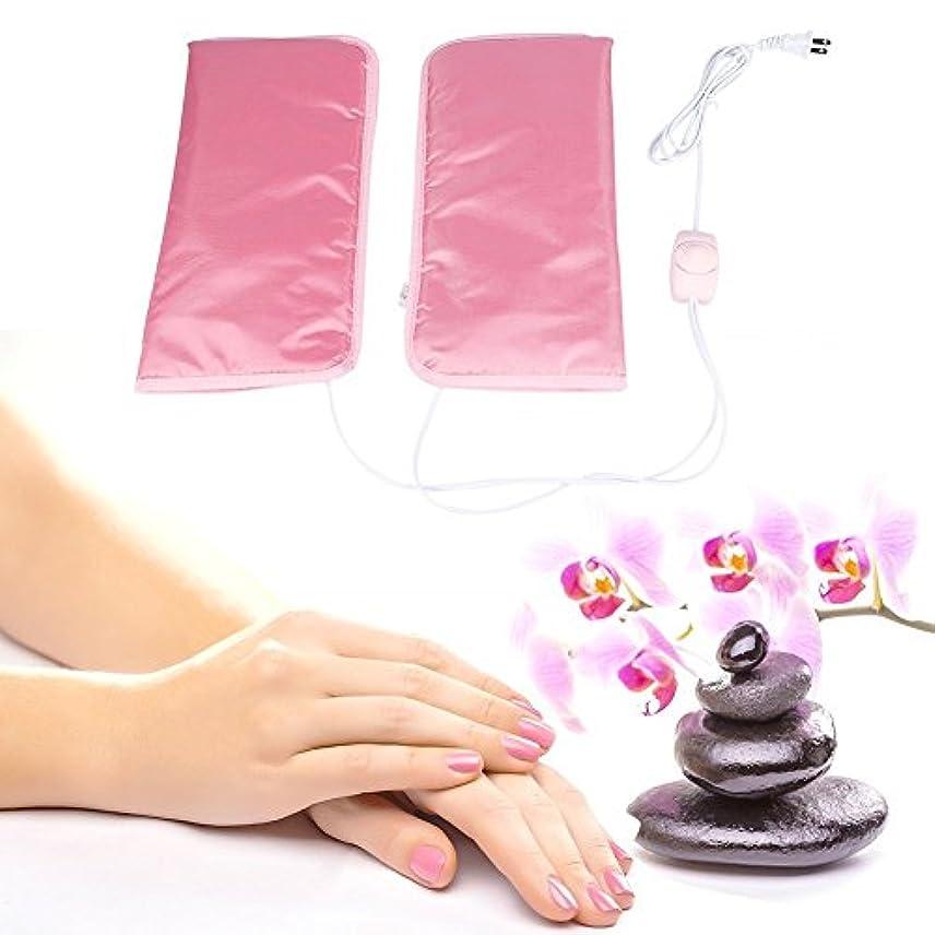 同時版三角形手袋 ヒートグローブ 加熱式 電熱 手ケア 1分間加熱 温度自動調節 恒温 乾燥対策 手荒れ対策 補水保湿 美白 しっとり (手)