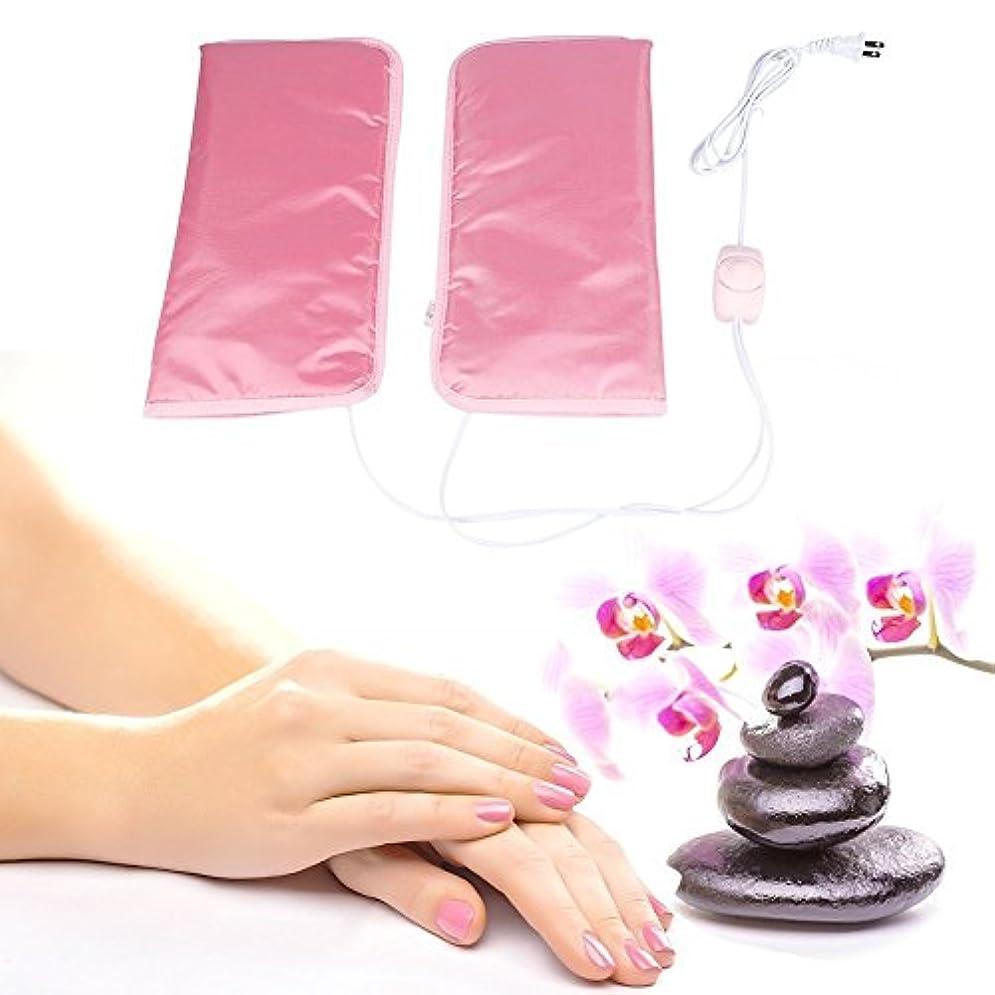 段落教えて藤色手袋 ヒートグローブ 加熱式 電熱 手ケア 1分間加熱 温度自動調節 恒温 乾燥対策 手荒れ対策 補水保湿 美白 しっとり (手)