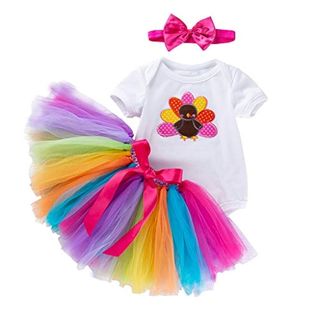 承認する脇に別れるMISFIY ハロウィン 子供 ガールズ 女の子 ロンパース tutuスカート Halloween かぼちゃ かわいい 柔らかい 誕生記念 出産祝い (66)