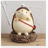 HuaQingPiJu-JP 錆びた装飾ヘッジホッグピギーバンク創造的なギフト(ヘッジホッグB)