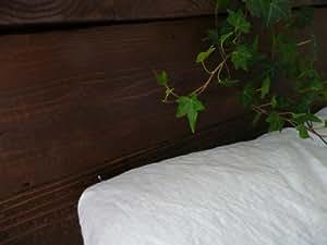 夏こそリネンでぐっすり快眠! リネン100%シーツ 厚手ホワイト <吸水・速乾・抗菌・耐久性が高い天然素材リネン>