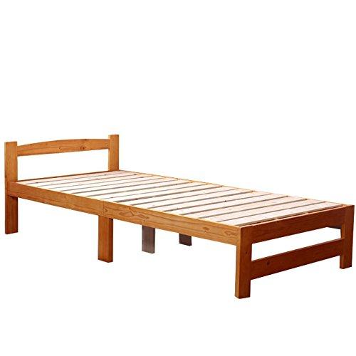 ビックスリー コンパクト梱包モデル ベッド シングル すのこベッド 北欧 パイン材 シンプル スノコ スノコベッド ライトブラウン商品名:メッツア S シングルサイズ