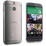 HTC J butterfly HTL23 ケース【Qosea】HTC J butterfly HTL23 カバー 高品質TPU シリコン ケース 落下防止 防指紋 超薄型、軽量TPU素材 ケース ソフト クリア (HTC J butterfly HTL23, 透明)