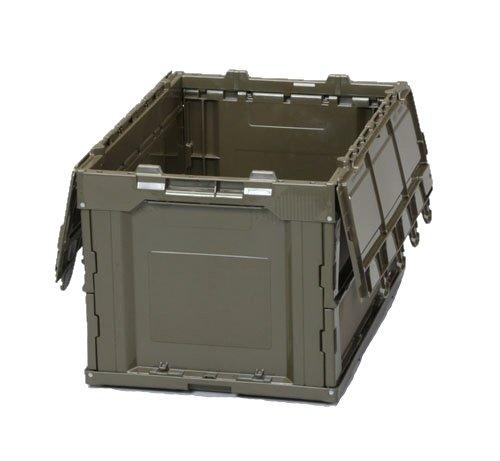 エスコ OD色 おりたたみ式コンテナ フタ付 50L EA506AA-4D