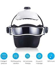 熱空気圧縮振動フィンガープレスマッサージ、目、首マッサージ音楽なだめるリラックスヘルメットタイプの電動ヘッド