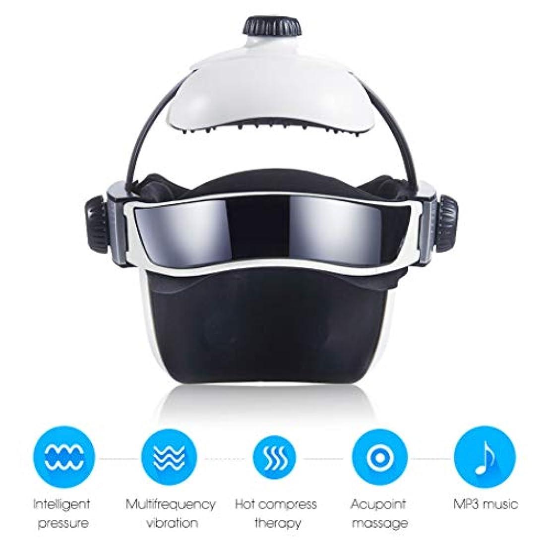型キャビンウェイトレス熱空気圧縮振動フィンガープレスマッサージ、目、首マッサージ音楽なだめるリラックスヘルメットタイプの電動ヘッド