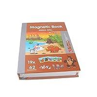 SHANGYAO7 タイプ 3D パズル子供のインテリジェント磁気ブックジグソーパズル脳トレーニング漫画パズル教育玩具キッズギフトジグソーパズル のり