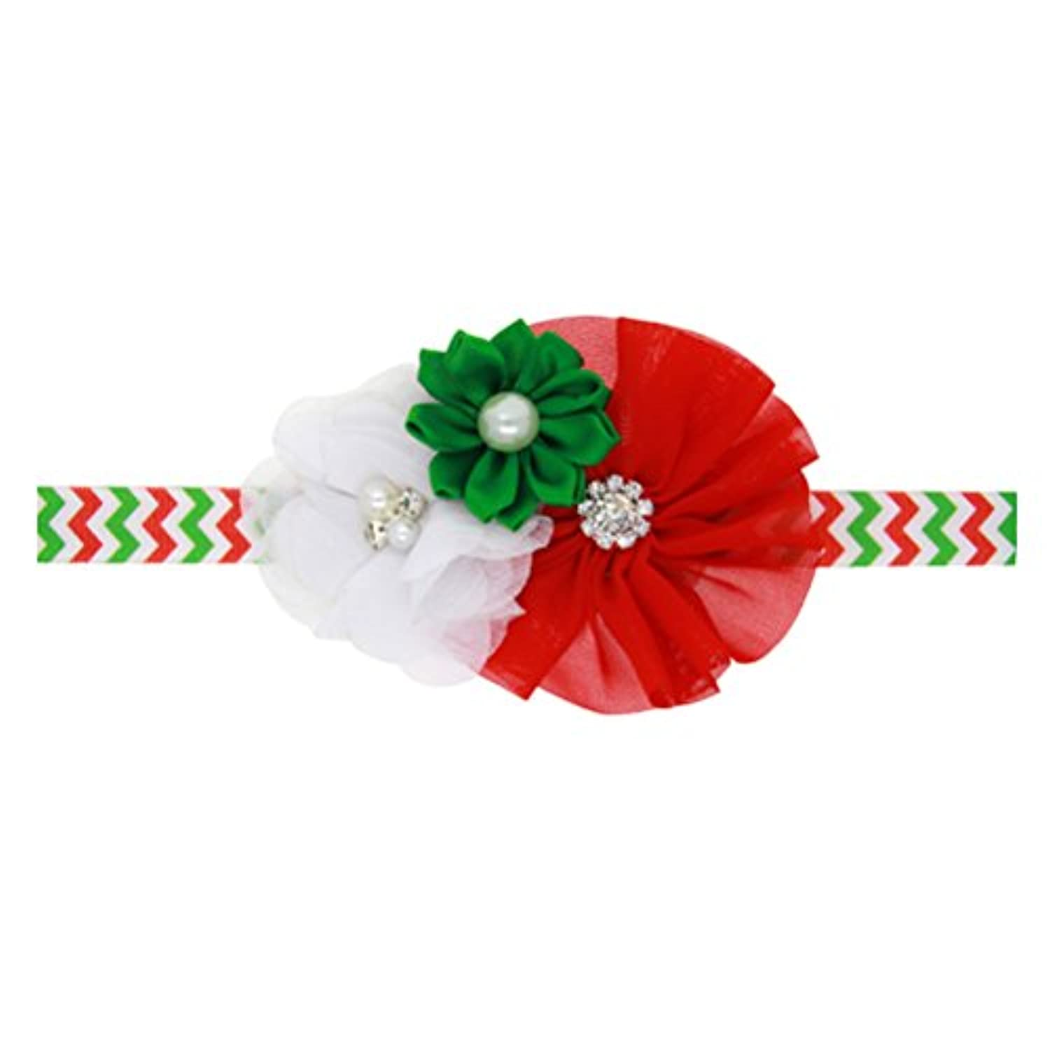 Zhhlaixing ベビー小物 Christmas Girls Toddler Kids Elastic Faux Pearl Bouquet Headband Hairband Hair Accessories