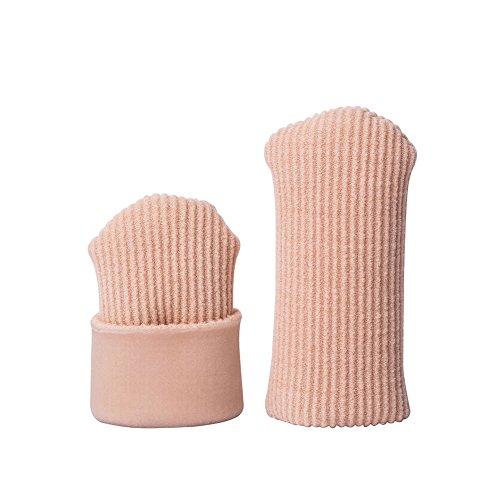 Sawors 足指クッション 足指保護キャップ つま先用インソール まめ・タコの保護サック ささくれ巻き爪 タコ 魚の目 調整可能 手指両用 メンズ レディーズ用 2個入 (S)