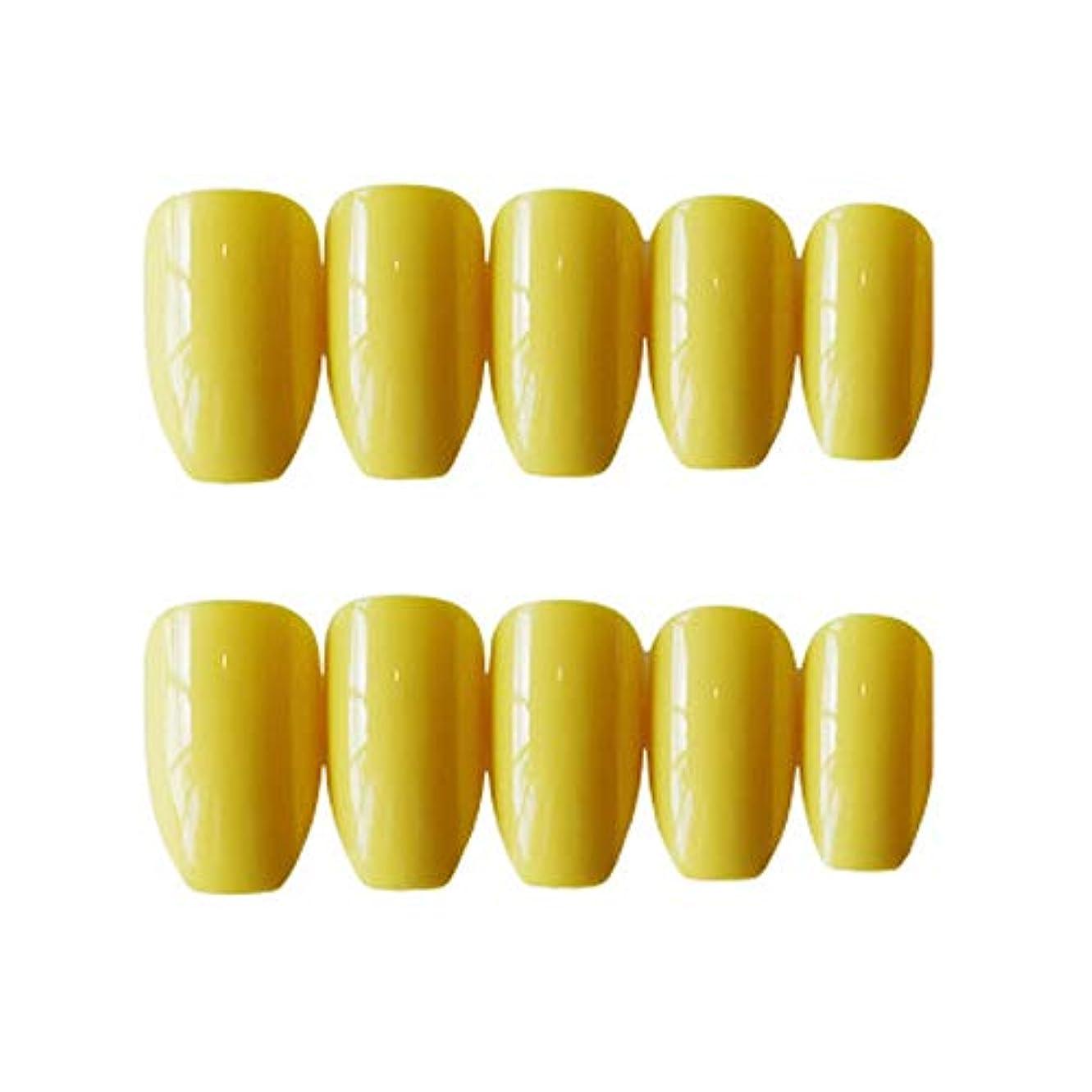 ピボット対称予備XUTXZKA 24本の長い偽の爪ピンクブルー型の偽の爪指の爪