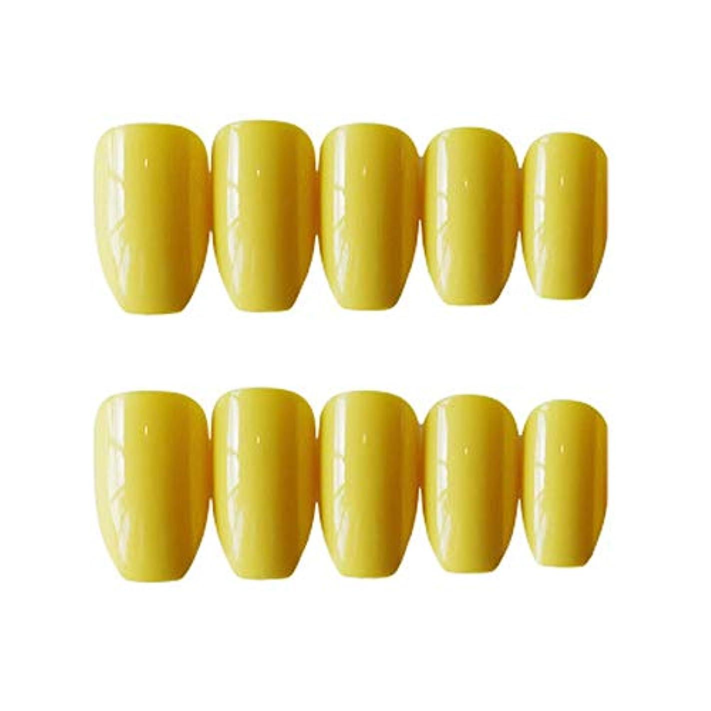 二十アレルギー性コンパクトXUTXZKA 24本の長い偽の爪ピンクブルー型の偽の爪指の爪