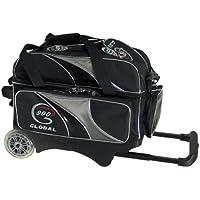 900グローバル?デラックス2ボールローラーBowling bag-ブラック/シルバー