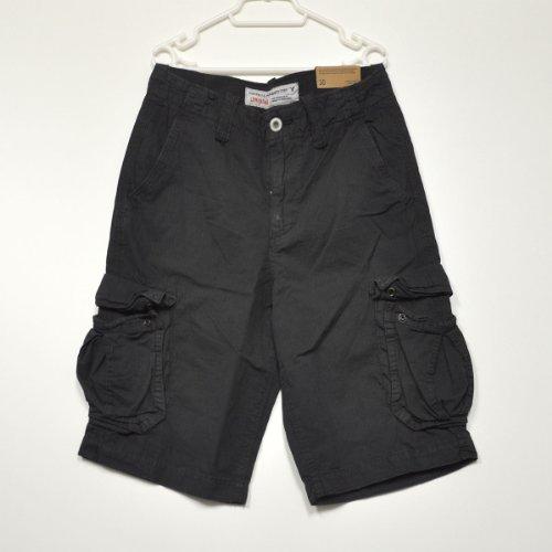 メンズ カーゴショーツ ショートパンツ [ブラック] 並行輸入品 30インチ アメリカンイーグルアウトフィッターズ