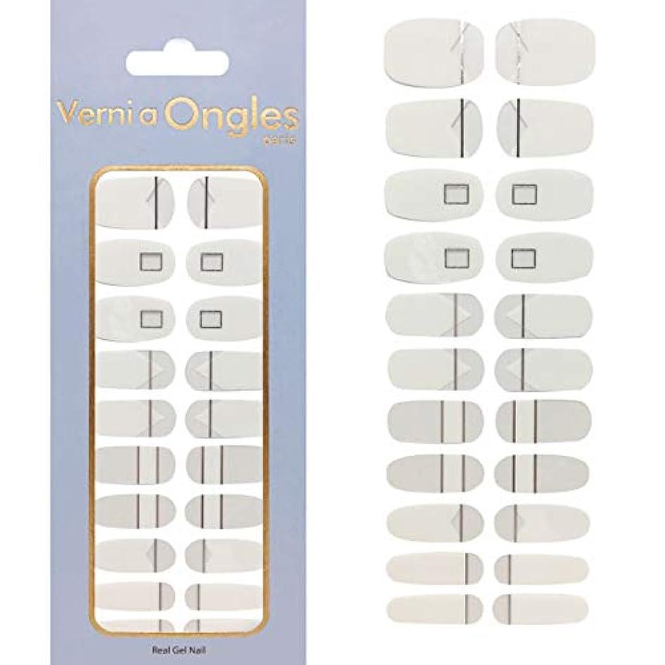 積極的にユニークな香ばしいVerni a Ongles ヴェルニアオングルス リアルジェルネイルステッカー V-6 (ネイルステッカー22枚?ネイルファイル1個付)