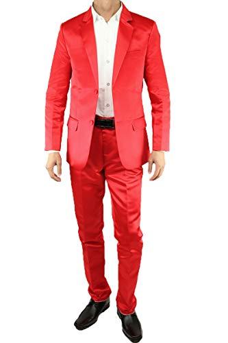 8de86f551bcde スーツ カラースーツ ドレススーツ 2ボタン 忘年会 新年会 カラフル 赤・青・緑