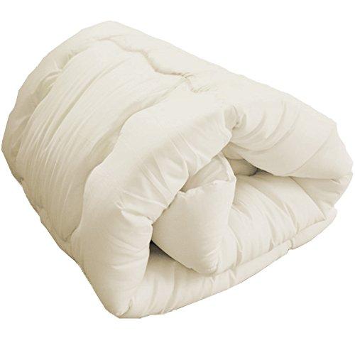 掛布団 増量タイプ ほこりの出にくい布団 洗える布団 シングル (アイボリー) 同色まくら付き 2点セット